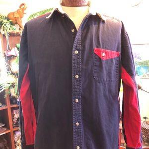 SALE ITEM Mens Bud light long sleeve Cowboy shirt.